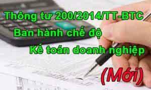 Thông tư 200/2014/TT-BTC về chế độ kế toán doanh nghiệp 2015