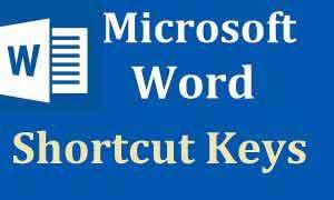 Những phím tắt Word cực kỳ hữu dụng