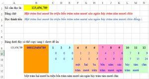 Đổi số thành chữ trong Excel