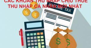 10 khoản thu nhập chịu thuế thu nhập cá nhân