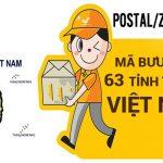 Mã bưu điện Zip code mới nhất